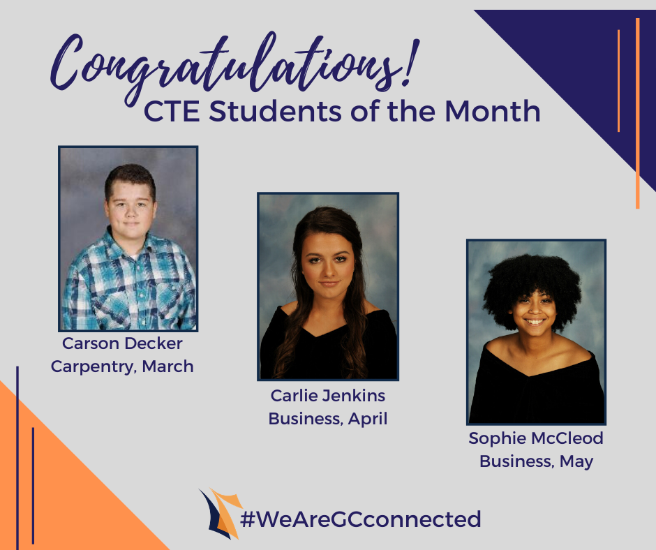 CTE Names Students of the Month
