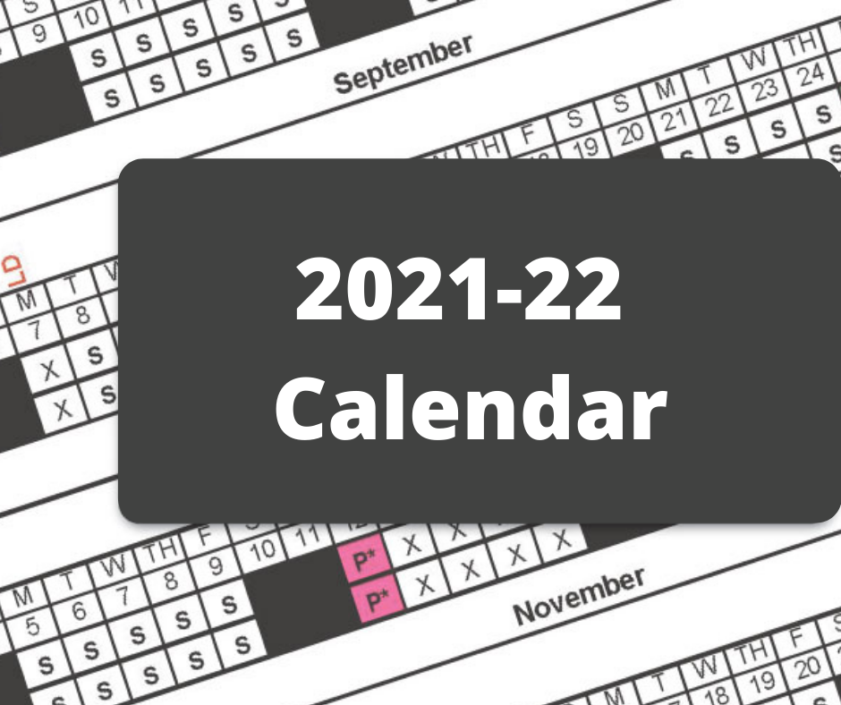 Feedback for 2021-22  Calendar; Survey Closes Nov. 13
