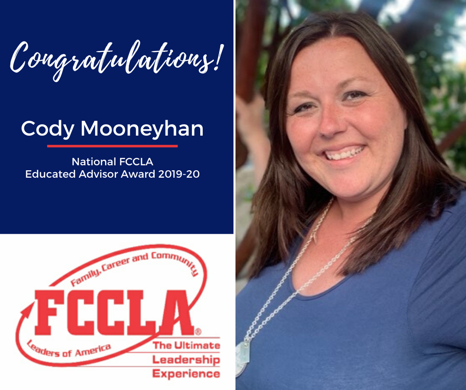 Mooneyhan Honored with FCCLA Educated Adviser Award