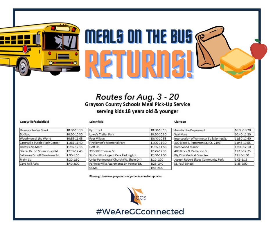 Meals on the Bus Returns Aug. 3