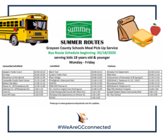 Meals on the Bus Summer Schedule to Start May 18