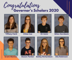 Eights GCHS Juniors Selected as Governor's Scholars