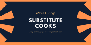 Food Services Hiring Substitute Cooks