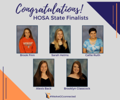 GCHS HOSA Takes Top Finishes at State