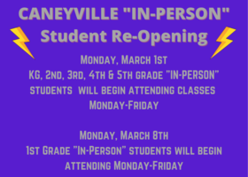 CANEYVILLE IN-PERSON RETURN REG SCHEDULE