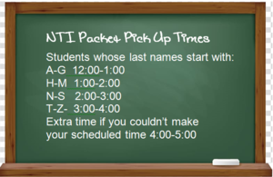 NTI Packet Pickup Schedule