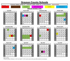 2020-21 School Year Calendar Approved