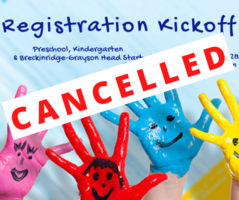 UPDATED March 23: Preschool/Kindergarten On-Site Registration Postponed