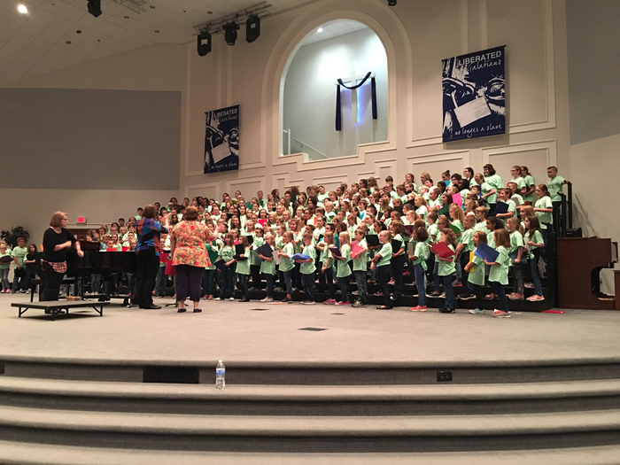 Beginning Rehearsal of 4th District Treble Chorus