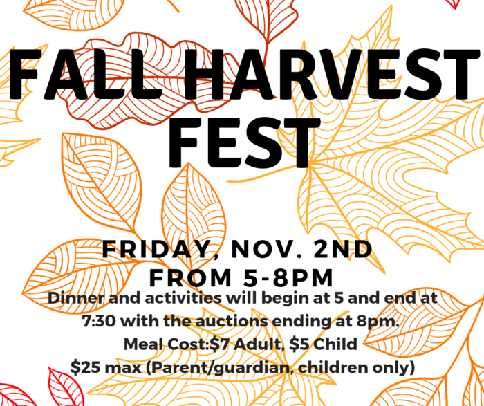 Corrected Fall Harvest Fest Flyer