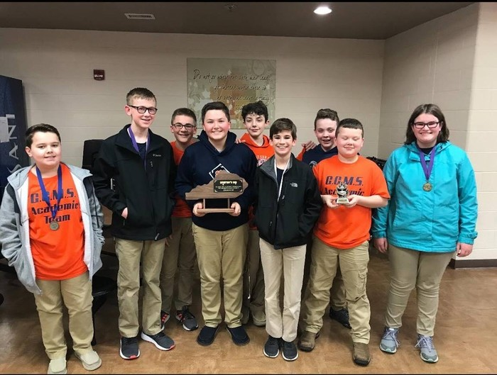 GCMS Academic Team with 1st place award