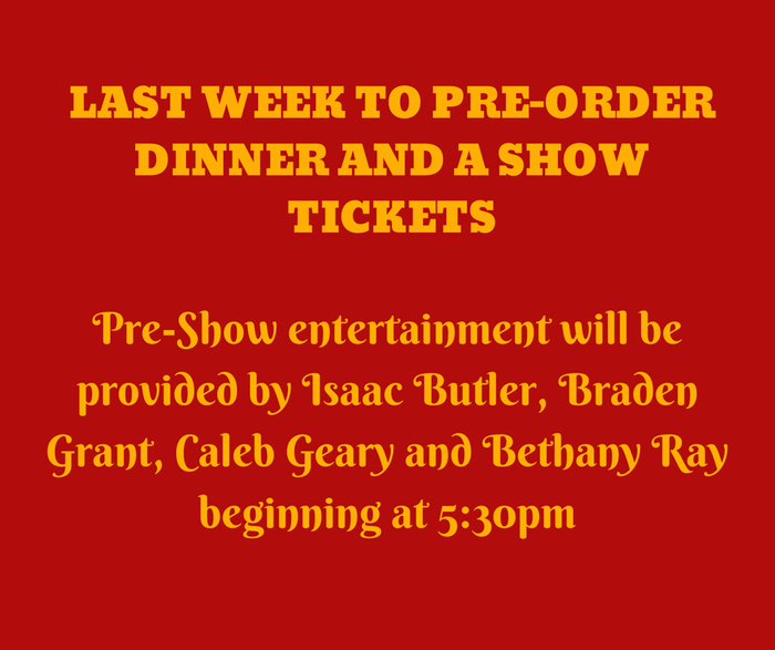 Dinner and show reminder