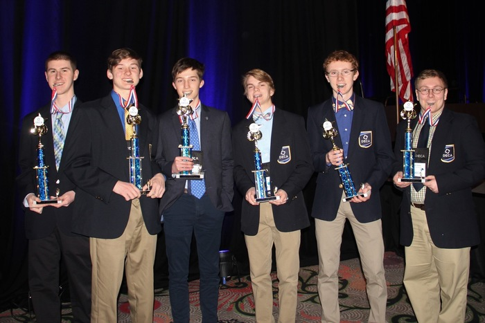 The guys of DECA, Chase Minton Center, outstanding Chapter Member