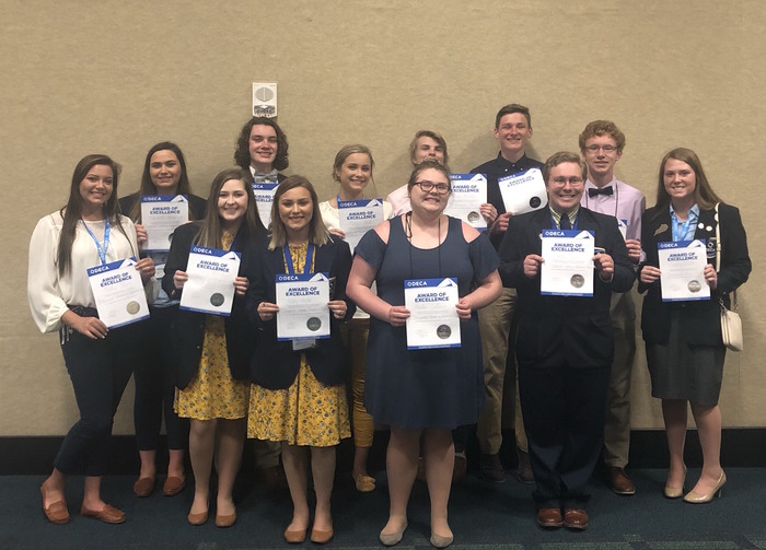 DECA Top 25% Winners
