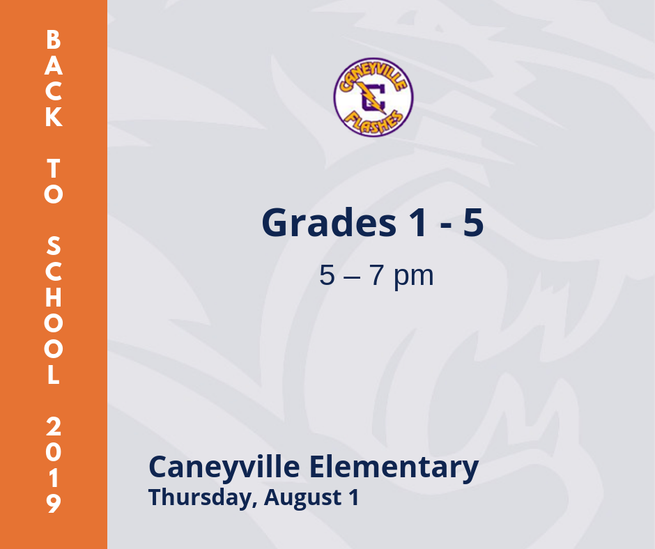 Caneyville back to school