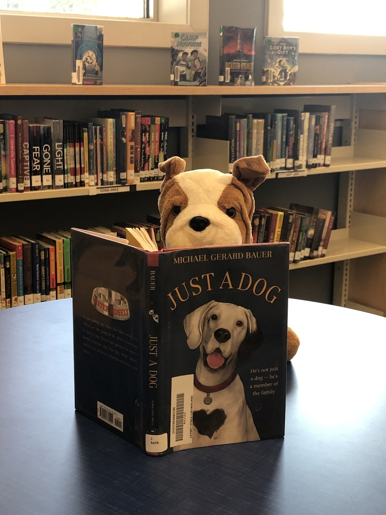 Buddy with his first book.