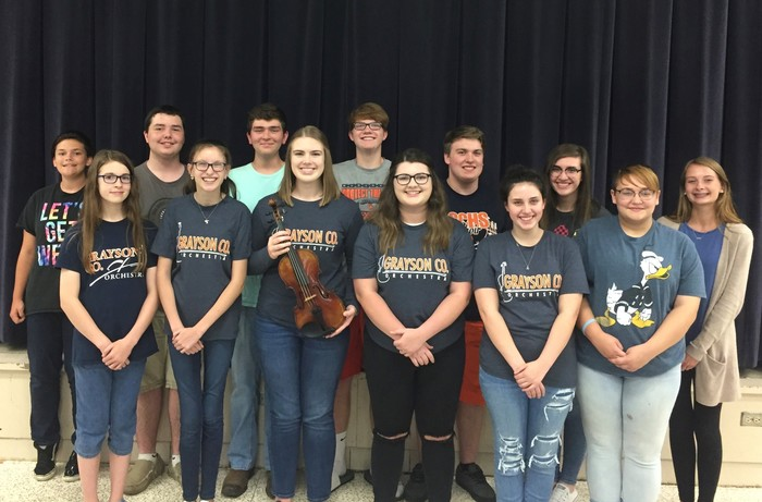 All-District Orchestra members