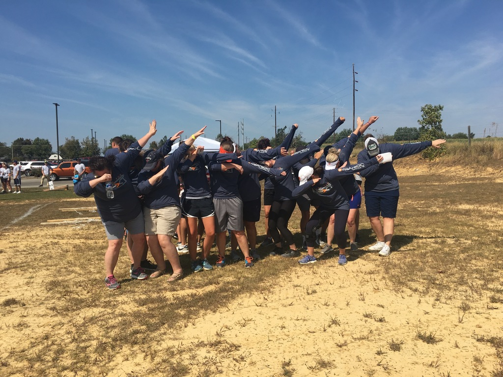 Team GCS dabbing at Corp Cup