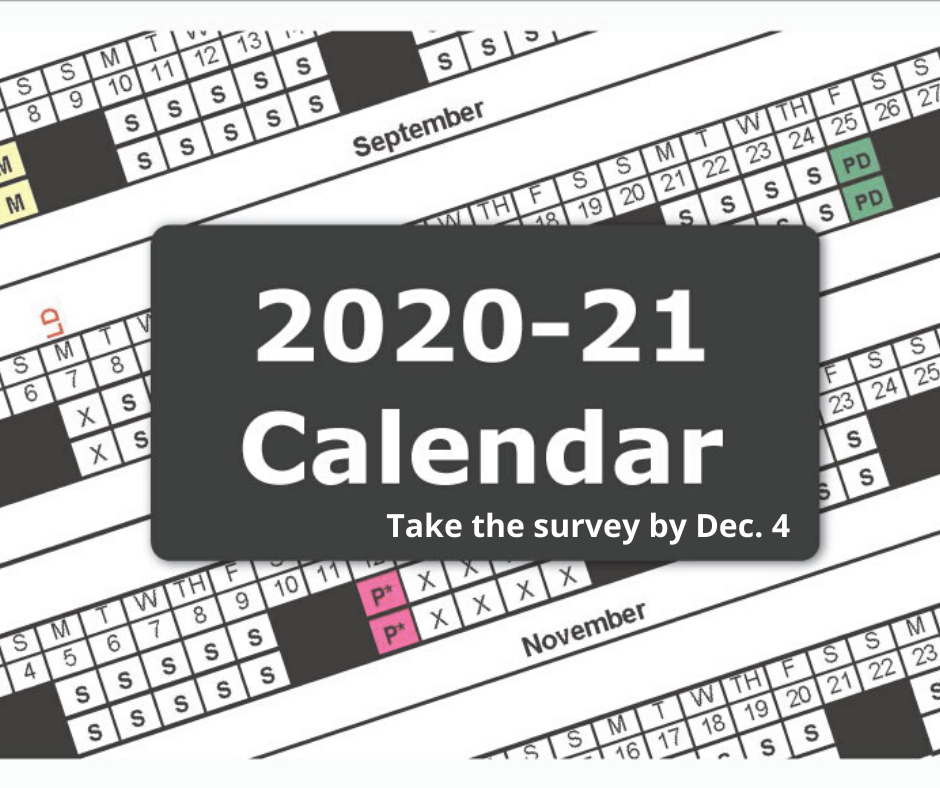 20-21 calendar survey decorative