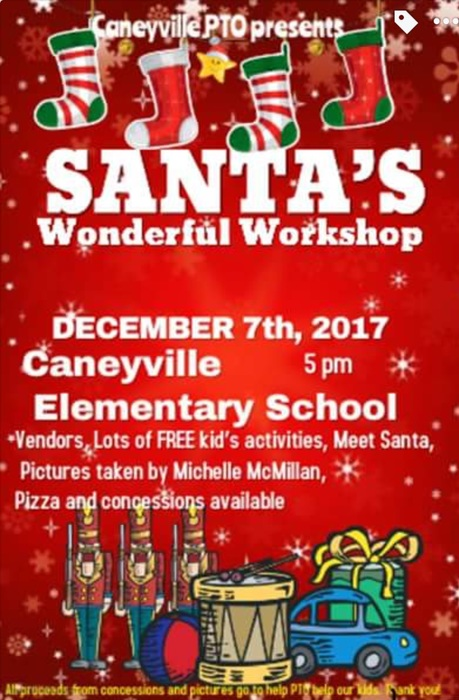PTO Christmas Event Dec. 7th 2017