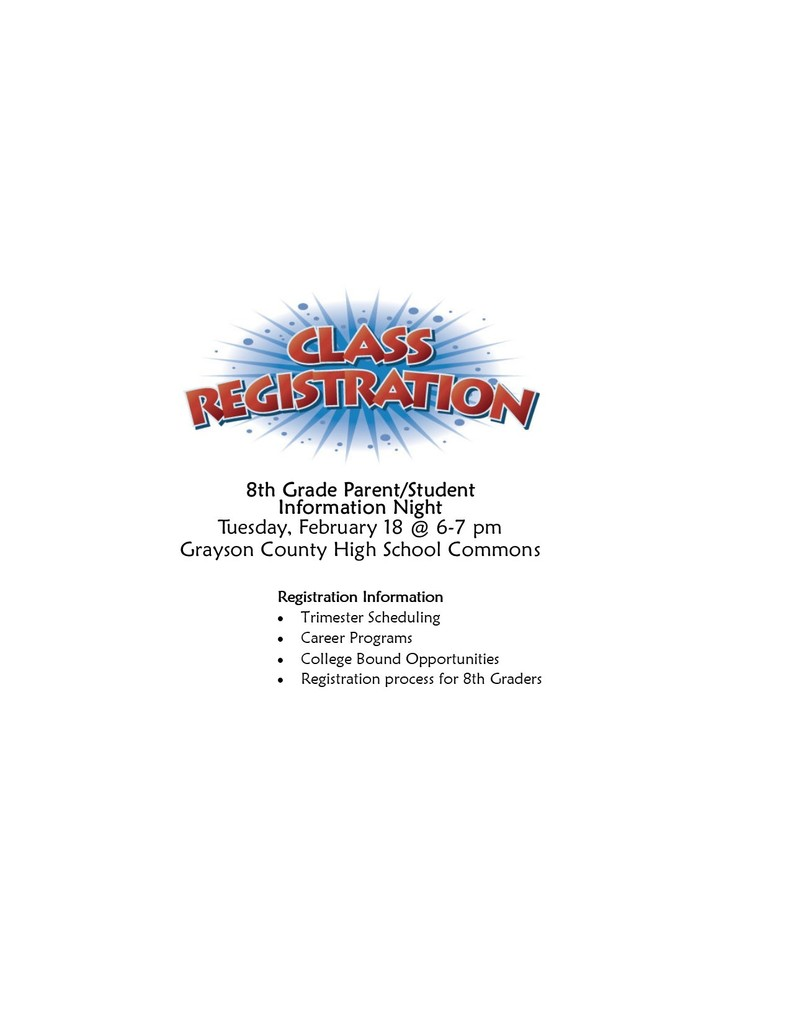 Eighth grade registration