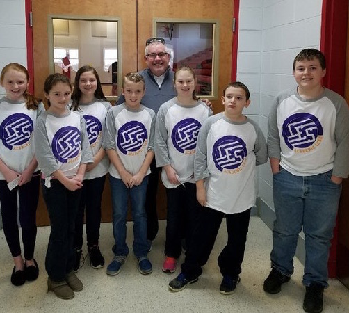 Caneyville Academic Team with principal George Meredith