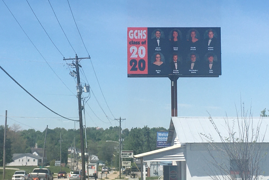 billboard with class of 2020
